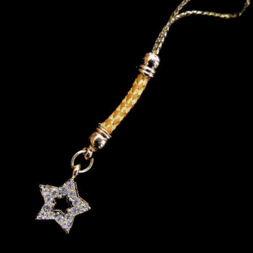 Gold Star Phone Charm