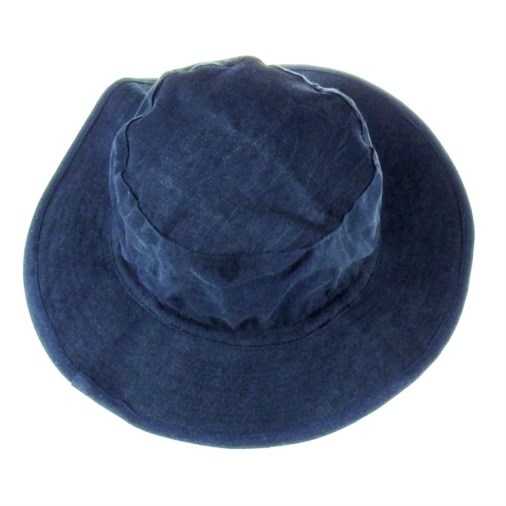 Russell Mens Soft Cotton Twill Bush Hat Blue