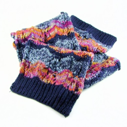Blythe Multi-Colour Ladies Knitted Scarf Navy