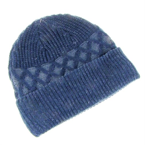 1cf2e722f17 Fashion   Fashion Accessories   Hats and Gloves   Steve Cross Knit Design  Hat Navy
