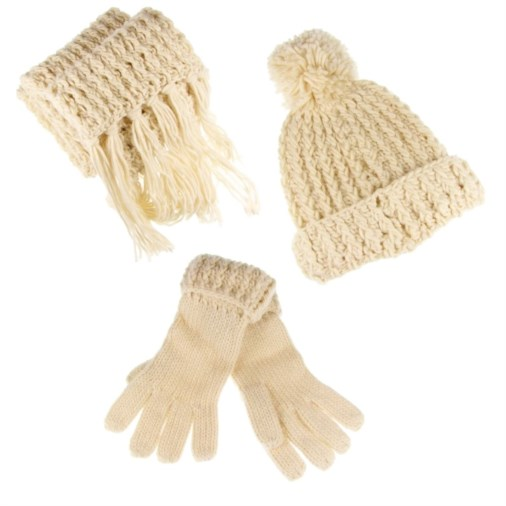 d364432a3ce Fashion   Fashion Accessories   Scarves   Betsy Knitted Ladies Hat  Scarf    Glove Set Cream