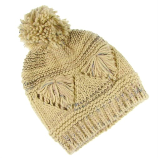 66811de82df Fashion   Fashion Accessories   Hats and Gloves   Erica Reverse Fairisle  Heart Design Ladies Hat Cream Multi