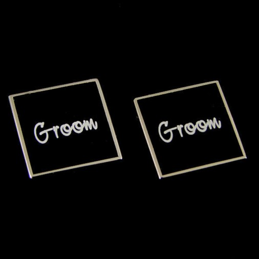 Groom Black Square Wedding Cufflinks
