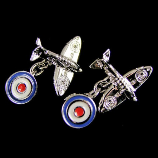 Chain Style Double Ended Spitfire & Roundel Cufflinks