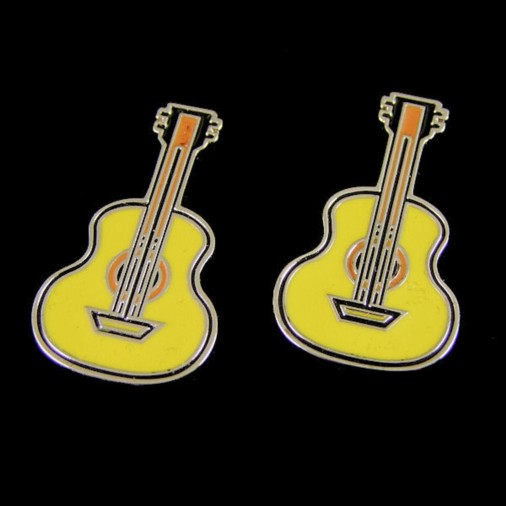 Coloured Acoustic Guitar Cufflinks