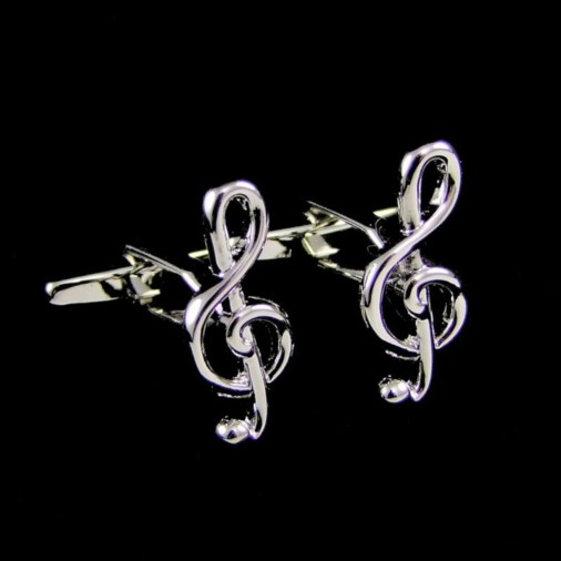 Treble Clef Music Notes Cufflinks