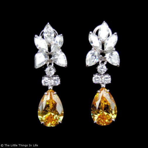 Chandelier Earrings Citrine