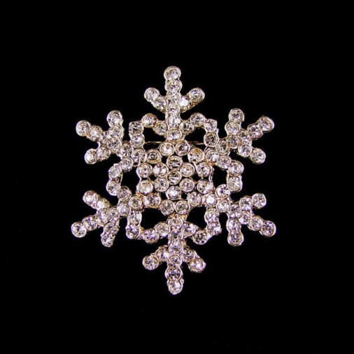 Snowflake Brooch (Gold)