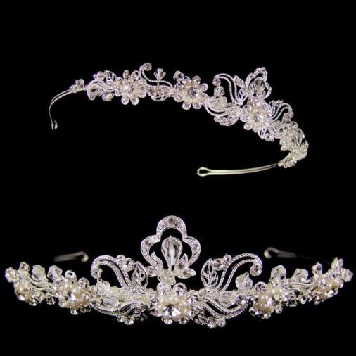 Amelia Crystal Wedding Tiara (Silver)