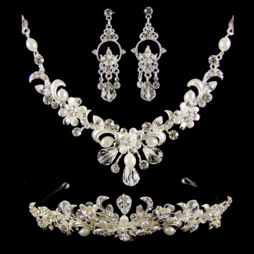 Veronika Wedding Jewellery Set (Silver)