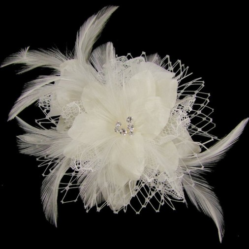 Ruth Ivory Wedding Hair Flower