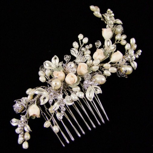 Lavinia Wedding Hair Comb 12cm (Silver)