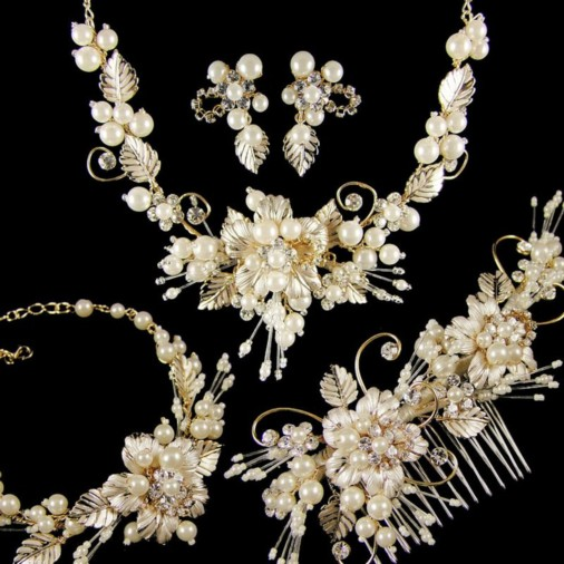 Grace Complete Wedding Jewellery Set (Gold)