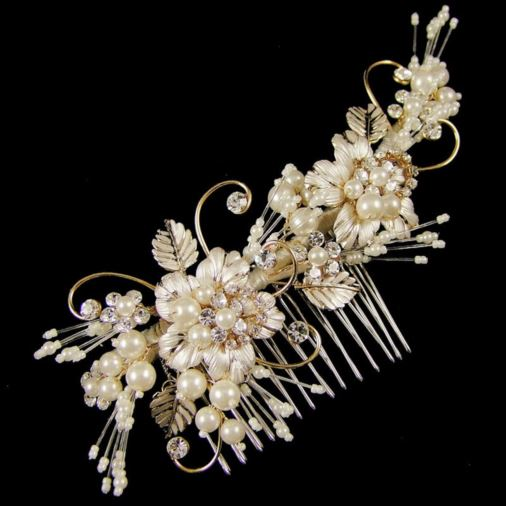 Grace Wedding Hair Comb 14cm (Gold)