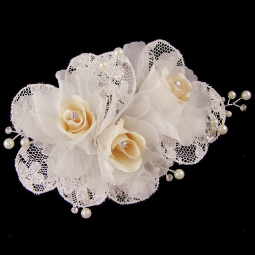 Natasha Bridal Hair Flower Fascinator
