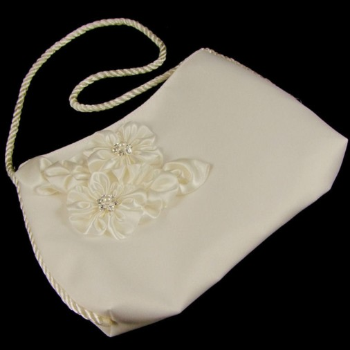 Frances Flower Wedding Bridal Bag (Ivory)