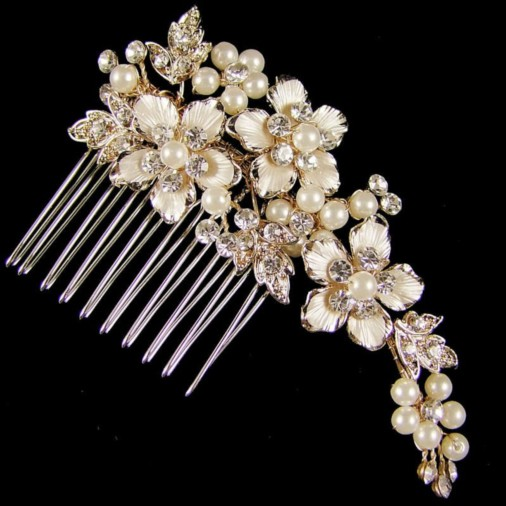 Marietta Wedding Hair Comb Medium 8cm (Gold)