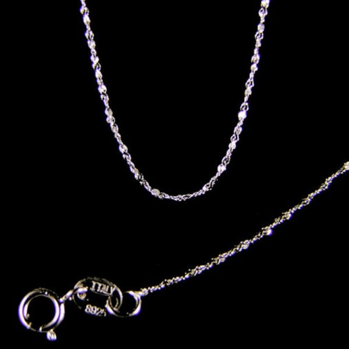 Sterling Silver Sparkle Chain 40cm