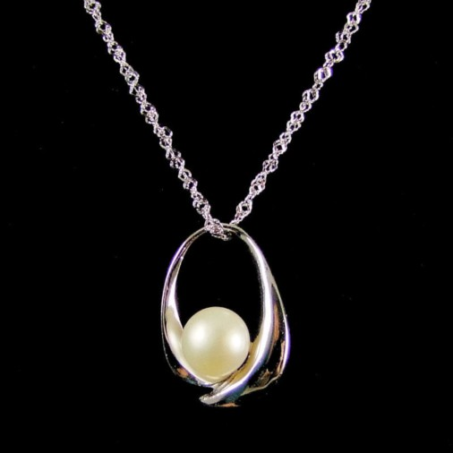 Mary-Anne Freshwater Pearl Sterling Silver Necklace