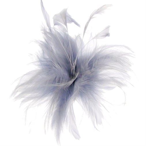 Cherry Feather Fascinator on Clip in Silver