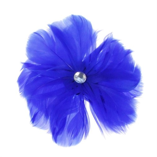 Rio Feather Fascinator on  Clip in Blue