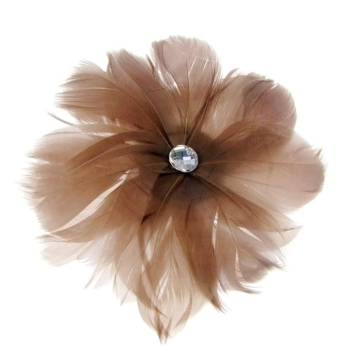 Rio Feather Fascinator on  Clip in Pewter