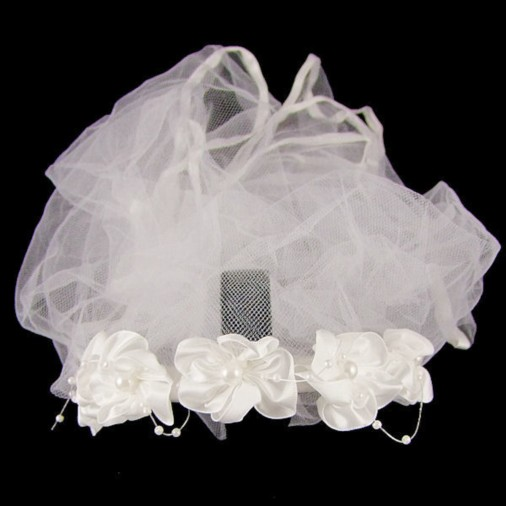 Elysha Wedding Headband in White