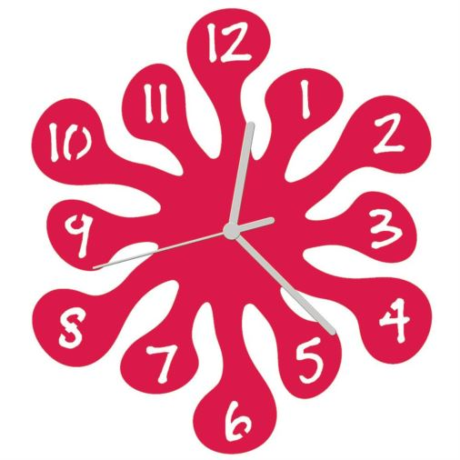 Euphyllia-Splash Childrens Wall Clock 25cm Fuchsia Pink
