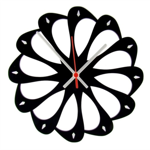 Euphyllia-Tempus Wavy Wall Clock 28cm Black