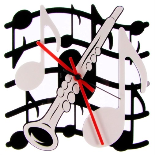 Euphyllia-Tempus Music Theme Clarinet Wall Clock