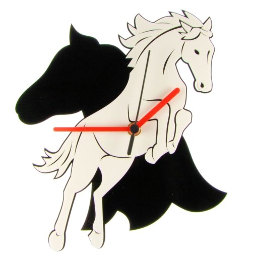 Euphyllia-Tempus Jumping Horse Wall Clock