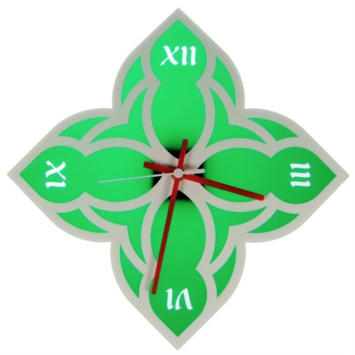 Euphyllia-Tempus Medieval Theme Wall Clock White/Green