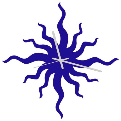 Euphyllia-Bad Hair Day Wall Clock 34cm Blue