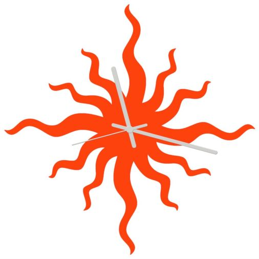 Euphyllia-Bad Hair Day Wall Clock 34cm Orange
