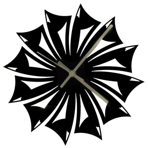 Euphyllia-Tempus Blade Wall Clock Black 28cm