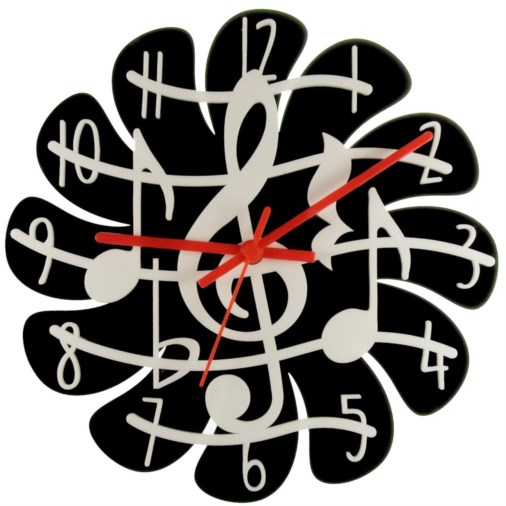 Euphyllia-Tempus Numbered Music Theme Wall Clock 28cm