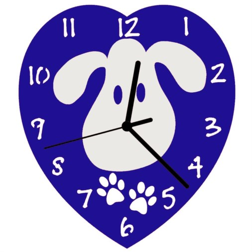 Euphyllia-Tempus Childrens Love My Dog Wall Clock 23cm Blue