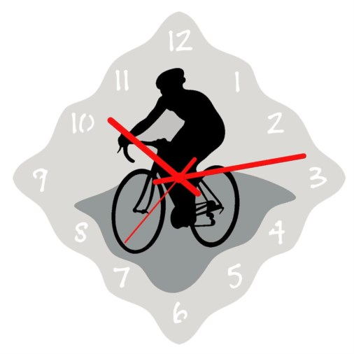 Euphyllia-Sports Cycling Theme Wall Clock 32cm
