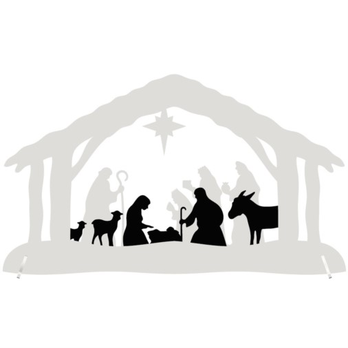 Christmas Nativity Arch Large - LED Battery 36cm