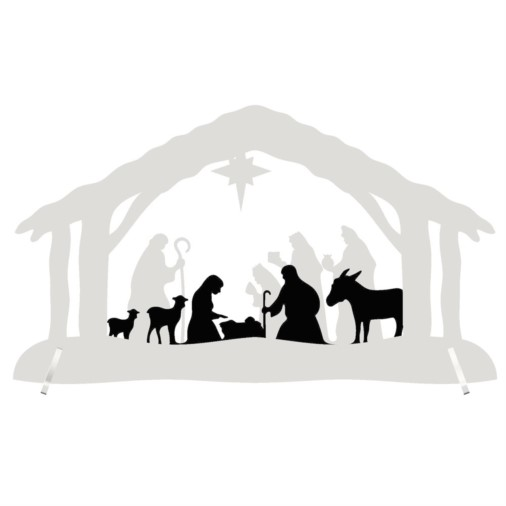 Christmas Nativity Arch Small - LED Battery 25cm