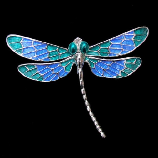 Dragonfly Brooch Blue/Green