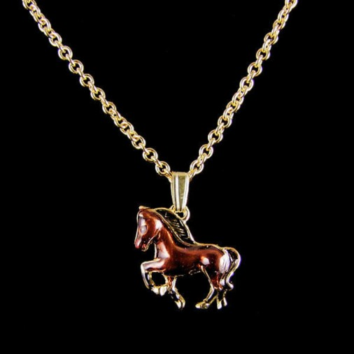 Horse Necklace Brown