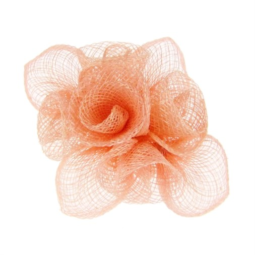 Holly-Jane Petite Sinamay Comb Fascinator in Pink