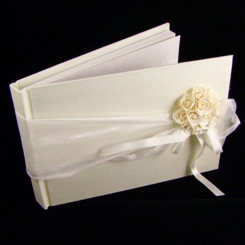 Wedding Guest Book Ribbon & Posy