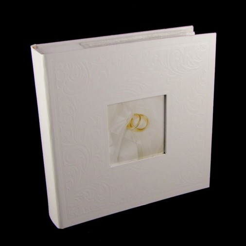 Swirl Wedding Photo Album White 6x4