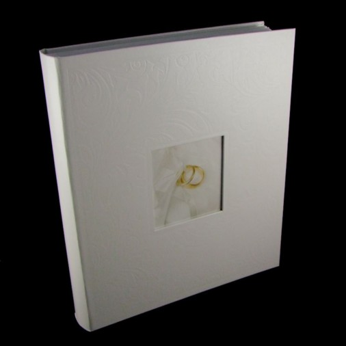 Traditional Swirl Wedding Photo Album White