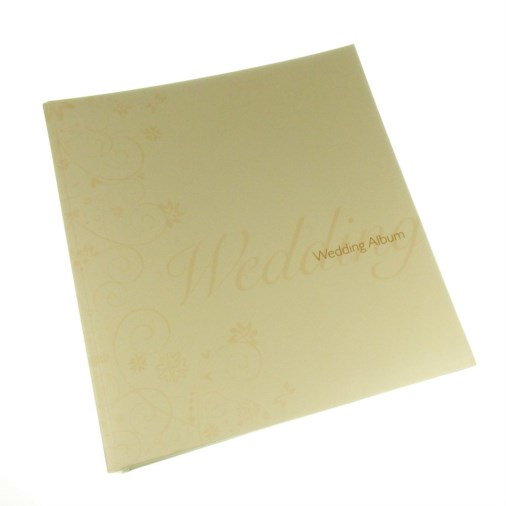 Swirl Design Wedding Slip-in Photo Album Cream 7x5