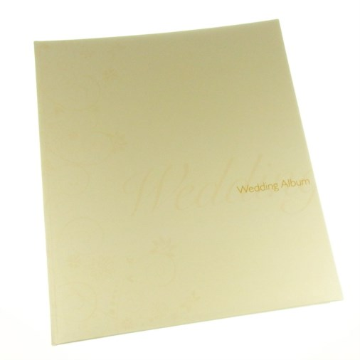 Traditional Pearl Swirl Design Photo Album Cream
