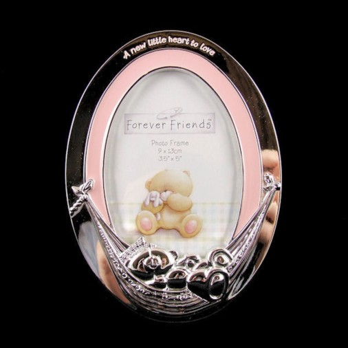 Forever Friends Silver Plated Photo Frame Pink