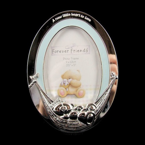 Forever Friends Silver Plated Photo Frame Blue